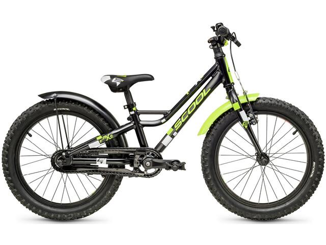 s'cool faXe alloy 18 Kids black/lemon matt reflex